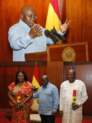 President Akufo-Addo with the Regional Ministers