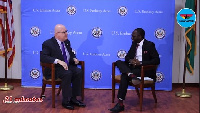 US Ambassador to Ghana, Robert P. Jackson took his turn on the '21 Minutes with KKB' show