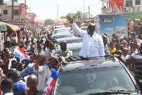 Akufo-Addo en route to the Pentecost University College