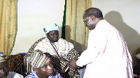 Nduom with the Kpassa chief in his palace