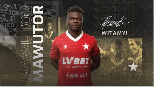 David Mawutor signs for Polish top-flight side Wisla Krakow