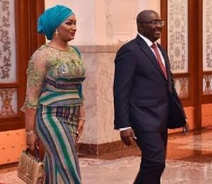 Vice President, Dr Mahamudu Bawumia with wife, Samira Bawumia