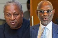 Former  President John Dramani Mahama and Kwesi Botcwey