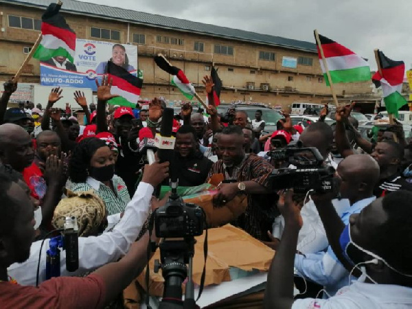 Obuobia supports Weija-Gbawe NDC PC with 14 motorbikes, calls for unity