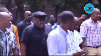 Koku Anyidoho was escorted by his colleagues to the CID headquarters Tuesday