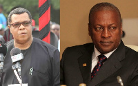 Goosie Tanoh and Former President John Mahama