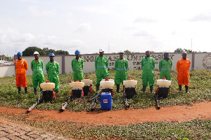 The disinfection exercise is follows the directive by President Akufo-Addo