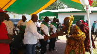 President John Dramani Mahama started his campaign tour in the Brong Ahafo region today.