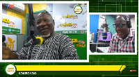 Allotey Jacobs on the Kokrokoo show with host Kwame Sefa