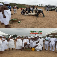 Traditional leaders purified the land before handing it over to the investors