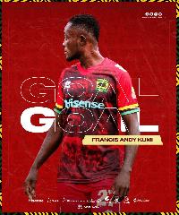 Asante Kotoko striker, Andy Kumi