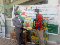 Dr. Nurah Gyeile, received  the donation and commended the organizations for their support