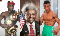 Rafael Mensah , Don King and Isaac Ekpo