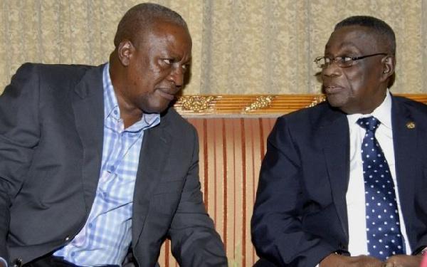 President John Dramani Mahama and late Professor John Evans Atta Mills