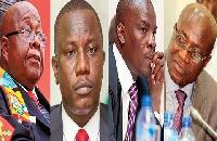 Prof. Aaron Mike Oquaye, Dominic Nitiwul, Haruna Iddrisu, Osei Keyi-Mensah-Bonsu