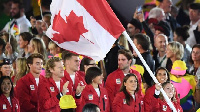 Canada's flag bearer Rosannagh Maclennan during the opening ceremony of the Rio 2016 Olympic Games