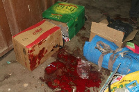 Items soiled with the blood of the victims