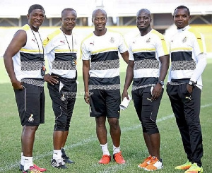 Black Stars Coach Kwesi Appiah and his staff