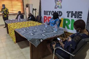 Mrs Barbara Oteng-Gyasi, Minister of Tourism Arts and Culture  meets creative arts industry