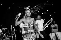 Wiyaala performs at Kenako Afrika Festival in Berlin