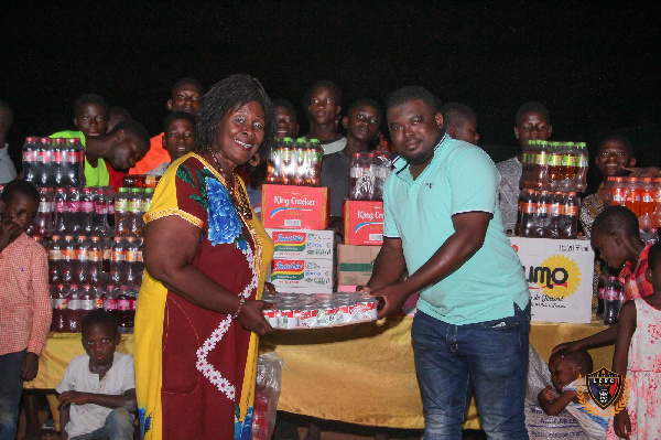 The team presented provisions and foods worth thousands of cedis to support the Orphanage