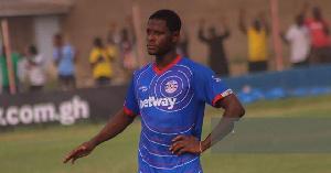Ghanaian midfielder Mubarak Alhassan