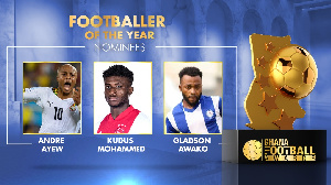 The trio has been shortlisted for the prestigious Ghana Footballer of the Year