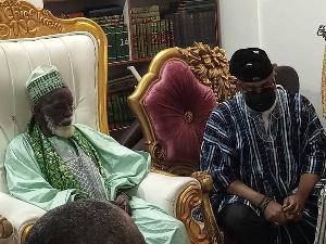 Chief Imam With Mahama And Sinare