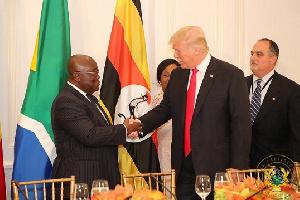 Akufo-Addo [left] with Donald Trump [right]