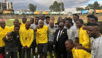 Akufo-Addo hosted the Black Stars yesterday