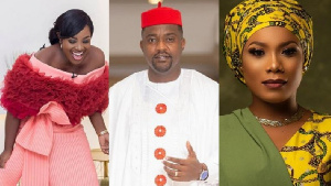 Emelia Brobbey, John Dumelo and Zynnell Zuh