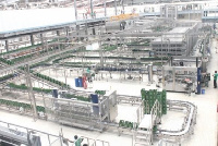 The plant has the capacity to produce over 40,000 bottles of beverages daily