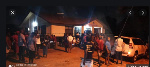 Scores of supporters of the National Democratic Congress massed up at the police station