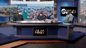 Panelists on the Eye on Port show