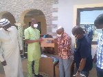 Alhaji Yussif Sulemana making the donation to the Bole District Health Directorate