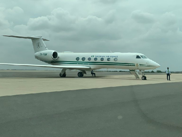 Photos: Ivory Coast, Nigeria, Niger show off presidential jets at ECOWAS summit in Accra. 56