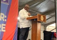 President Akufo-Addo addressing NPP delegates on Sunday