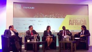 Dr Mahamudu Bawumia making his point at the FT summit: London