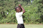 Eric Henaku in action at the on going Gold Fields PGA Golf Championship in Damang