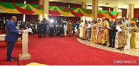 President Akufo-Addo swearing-in members of the Council of State