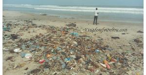 An evidence of the beach