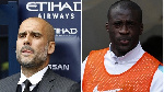 Former Manchester City star Yaya Toure and Pep Guardiola