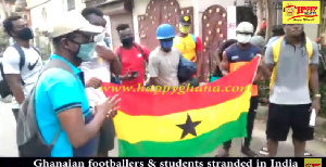 Stranded Ghanaian players, students in India