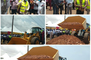 Minister of Roads and Highways has cut sod for the rehabilitation work