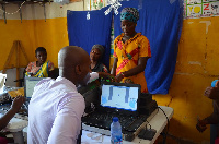 Some of the beneficiaries being enrolled on the health insurance scheme
