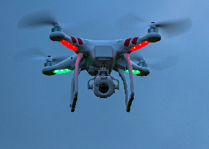 Drone With Camera Lights