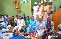 The pastors joined Dr. Mahamudu Bawumia at the mosque to pray