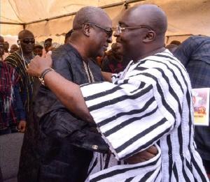 Vice president, Dr. Bawumia Mahamadu with Former president John Mahama