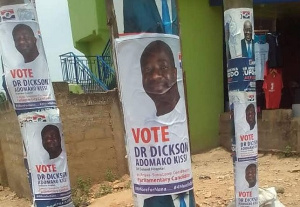 Some defaced poster of Vice President Dr Mahamudu Bawumia