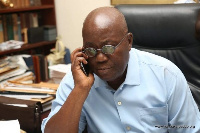 President Akufo-Addo on phone (File photo)